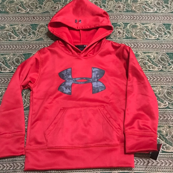 ffefa81c4 Under Armour Shirts & Tops | Boys Size 4 Red Pullover Hoodie | Poshmark